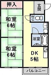 葵マンション[303号室号室]の間取り