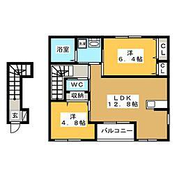 仮)岐阜市上川手アパート[2階]の間取り