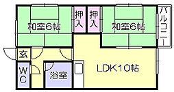 ホレストハウス A[2階]の間取り