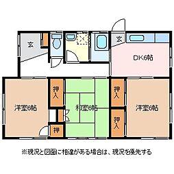 [一戸建] 長野県松本市小屋北2丁目 の賃貸【/】の間取り