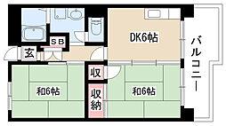 愛知県名古屋市南区大磯通4丁目の賃貸マンションの間取り