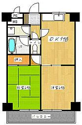 市両マンション[3階]の間取り