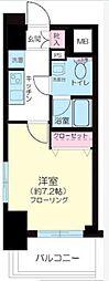プレールドゥーク西横浜[2階]の間取り