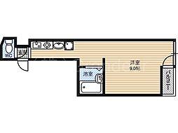ペントハウス17[2階]の間取り