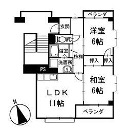 アメニティ大樹寺 弐号館 1階[101号室]の間取り