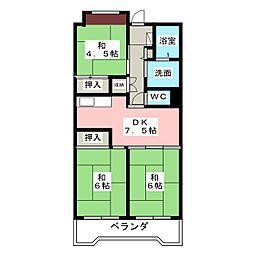 ビレッジハウス笠寺タワー[12階]の間取り
