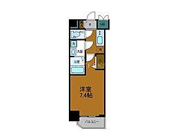 JR大阪環状線 寺田町駅 徒歩6分の賃貸マンション 4階1Kの間取り