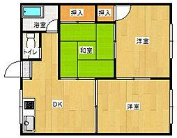 コーポOR3新垣[201号室]の間取り