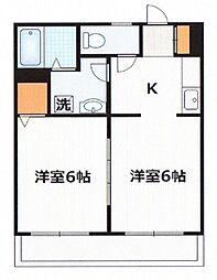 第1野村ビル[603号室]の間取り