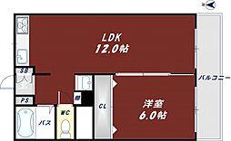 トリプルステイション菱屋西[4階]の間取り