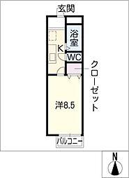 サウスゲートB棟[1階]の間取り