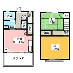 竜美東SKYHILLS5[1階]の間取り
