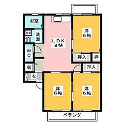 ヤマヨシ ヴィレッジ[2階]の間取り