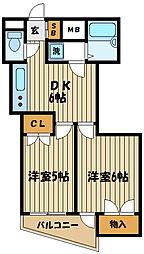 第1コーポレイトハウスセンチュリー[3階]の間取り