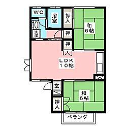 グランセジュール[1階]の間取り
