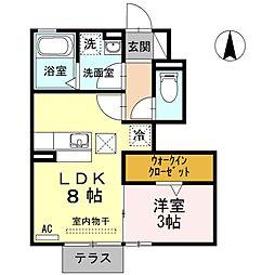 メイユール安良田[1階]の間取り