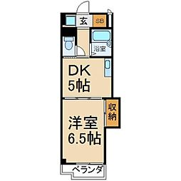 大阪府枚方市香里ケ丘2丁目の賃貸マンションの間取り