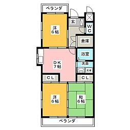 コーポKAMADA[1階]の間取り