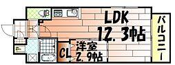 リュシオールレジデンス[5階]の間取り