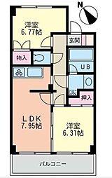 フレックス湘南石川[2階]の間取り