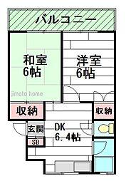 岸田マンション[3階]の間取り