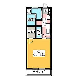 アルファ上杉[2階]の間取り