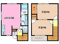 [テラスハウス] 三重県松阪市大口町 の賃貸【三重県 / 松阪市】の間取り