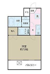 TNC梅田ハイツ[2階]の間取り