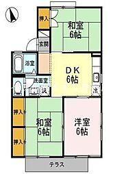 岡山県倉敷市児島田の口丁目なしの賃貸アパートの間取り