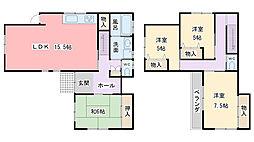 [一戸建] 兵庫県姫路市若菜町2丁目 の賃貸【/】の間取り