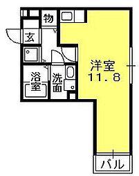 セジュール夙川[203号室]の間取り