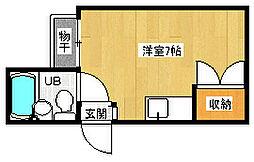 京都府京都市東山区西海子町の賃貸マンションの間取り