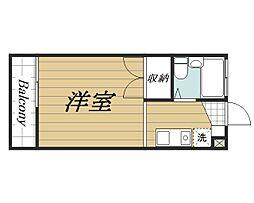 京成本線 公津の杜駅 徒歩25分の賃貸アパート 1階ワンルームの間取り