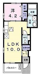 メゾン・ド・クレールB[103号室]の間取り