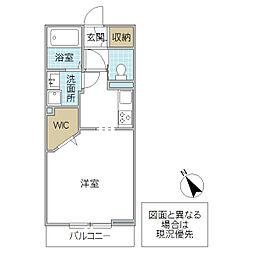 シャーメゾンYu 1階1Kの間取り