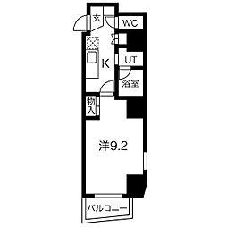 名古屋市営鶴舞線 塩釜口駅 徒歩3分の賃貸マンション 7階1Kの間取り