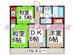 メゾン花小金井[3階]の間取り