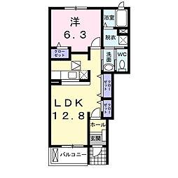 ヴィラK&K II[1階]の間取り