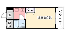 アンボワ−ズ武庫川レディース[412号室]の間取り