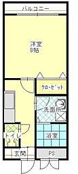 センティースマンション[310号室]の間取り