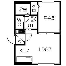 北海道札幌市西区二十四軒四条3丁目の賃貸マンションの間取り