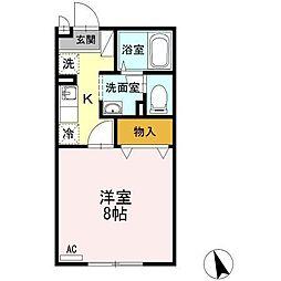セジュール久松台[1階]の間取り