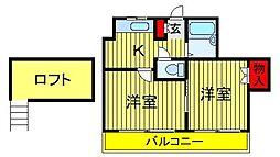 LEAFCOURT江戸川台AB[A-202号室]の間取り