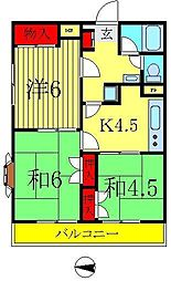 クレール・オートンヌ南水元[3階]の間取り