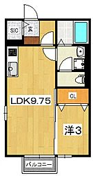 モナリエ飯泉[106号室号室]の間取り