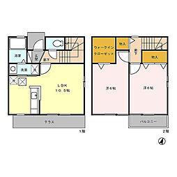 [テラスハウス] 東京都青梅市梅郷5丁目 の賃貸【/】の間取り