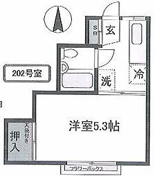 コーポ石川 bt[202号室]の間取り