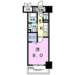 メゾン・ラフレシール[4階]の間取り