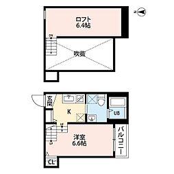 福岡市地下鉄七隈線 野芥駅 徒歩7分の賃貸アパート 2階ワンルームの間取り
