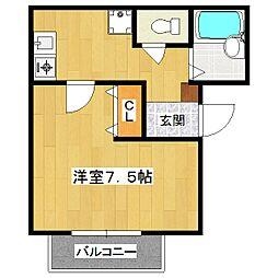 シャンテ[1階]の間取り